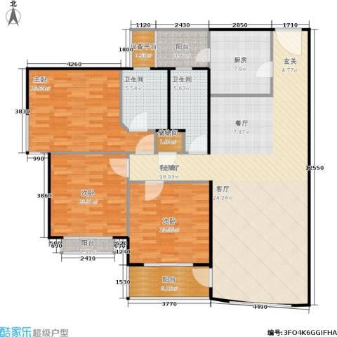 海上明珠园3室1厅2卫1厨169.00㎡户型图