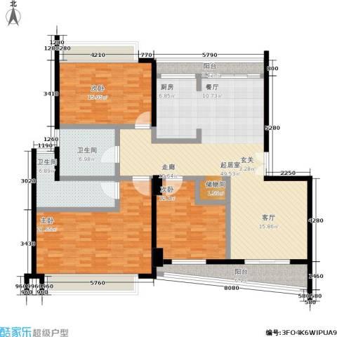 银都佳园3室0厅2卫0厨176.00㎡户型图