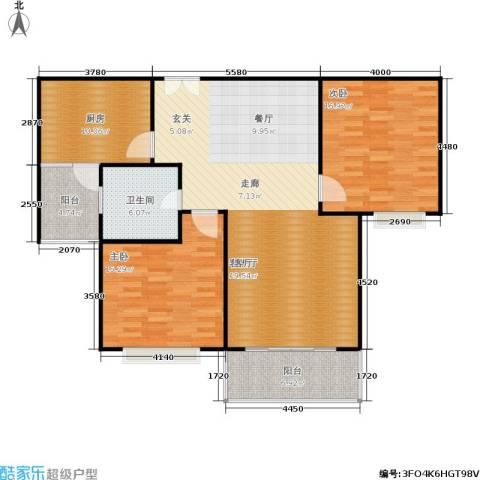 康宁雅庭2室1厅1卫1厨108.00㎡户型图