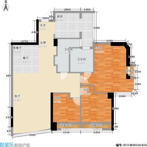 世纪广场3室1厅2卫0厨167.00㎡户型图