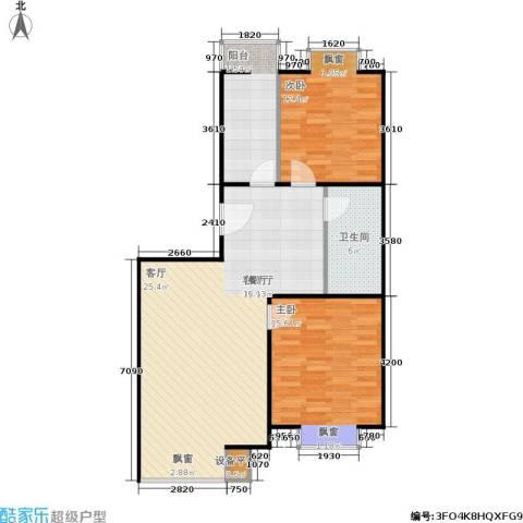 巧克力城2室1厅1卫1厨105.00㎡户型图