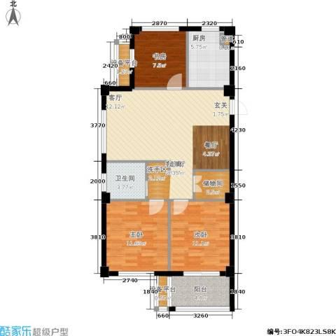 香槟水郡3室1厅1卫1厨89.00㎡户型图