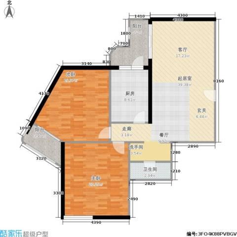 黎明新座2室0厅1卫1厨109.00㎡户型图