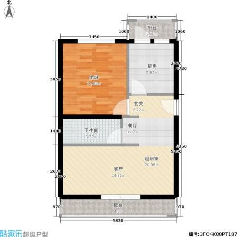 南太平庄小区1室0厅1卫1厨56.00㎡户型图