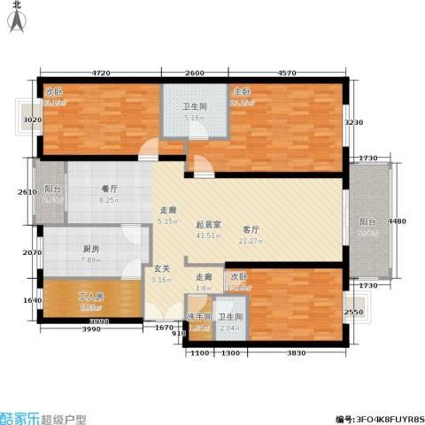 宅美诗3室0厅2卫1厨125.14㎡户型图