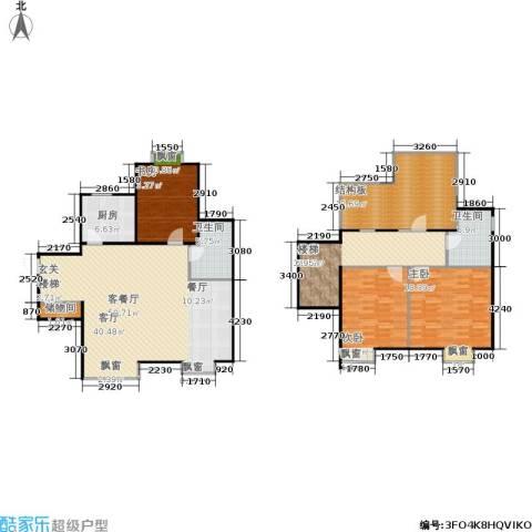 巧克力城3室1厅2卫1厨203.00㎡户型图