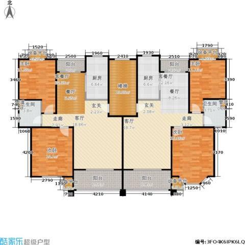 嘉定颐景园4室2厅2卫2厨170.01㎡户型图