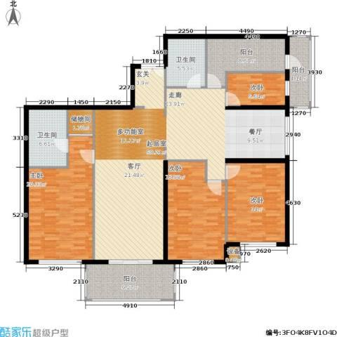 宅美诗4室0厅2卫0厨166.73㎡户型图