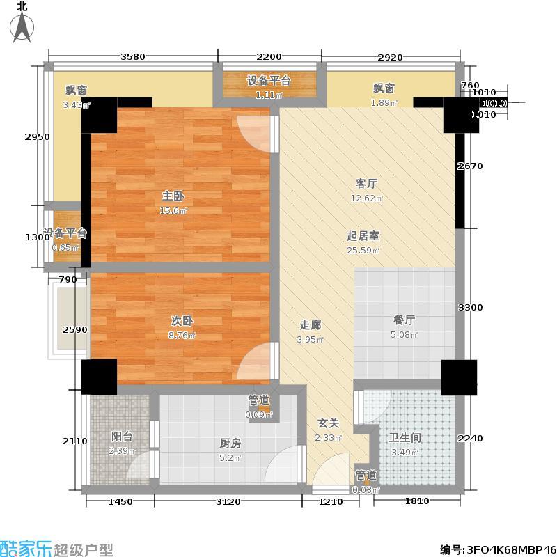 高升瑞景78.00㎡高升瑞景户型图A户型(2/2张)户型10室