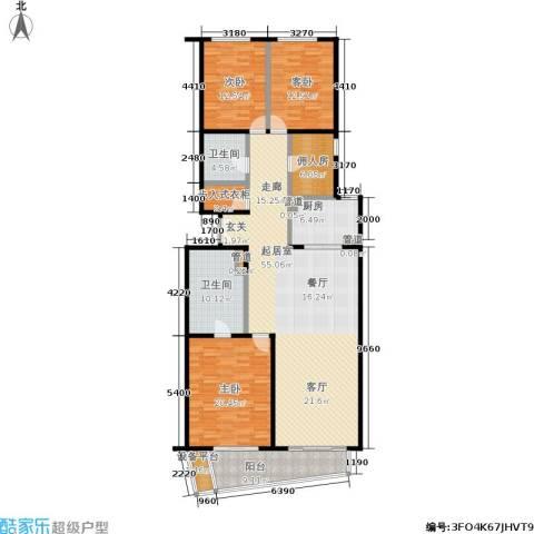 华远九都汇3室0厅2卫1厨203.00㎡户型图