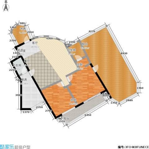 汇欣公寓3室0厅2卫1厨154.00㎡户型图