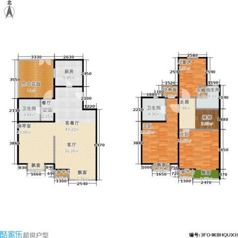 巧克力城3室1厅3卫1厨164.00㎡户型图