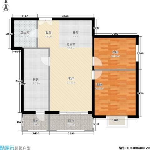 润民柳芳居2室0厅1卫1厨116.00㎡户型图