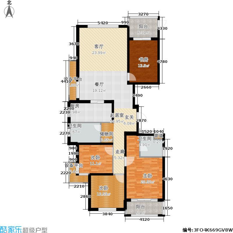 兆丰嘉园174.35平方米4室2厅2卫户型4室2厅2卫