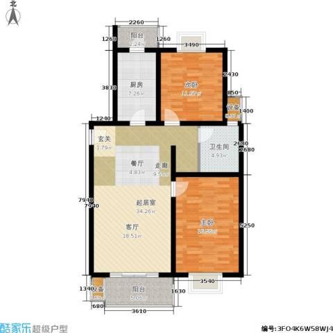 万佳苑2室0厅1卫1厨95.00㎡户型图