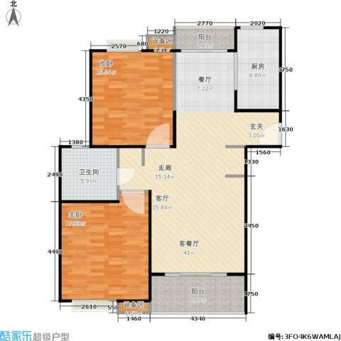 上海源花城2室1厅1卫1厨103.00㎡户型图