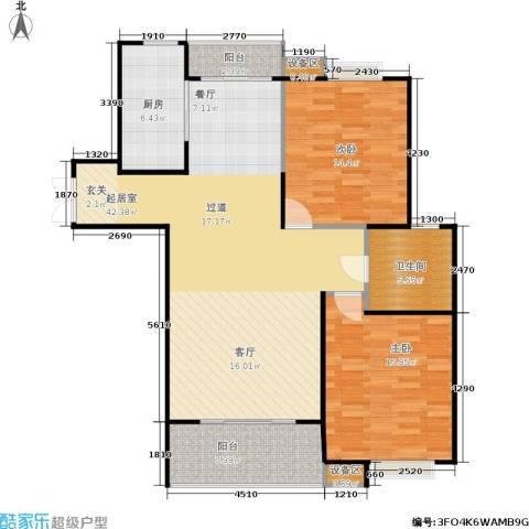 上海源花城2室0厅1卫1厨100.00㎡户型图