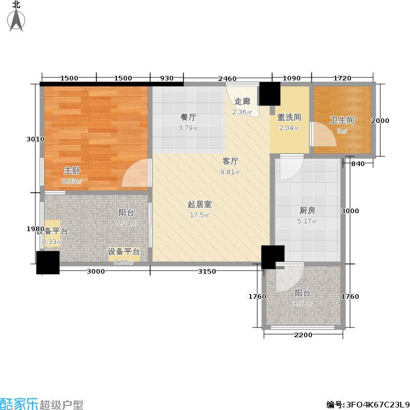 双楠偶寓6-16楼标准层、5楼G户型1室1卫1厨