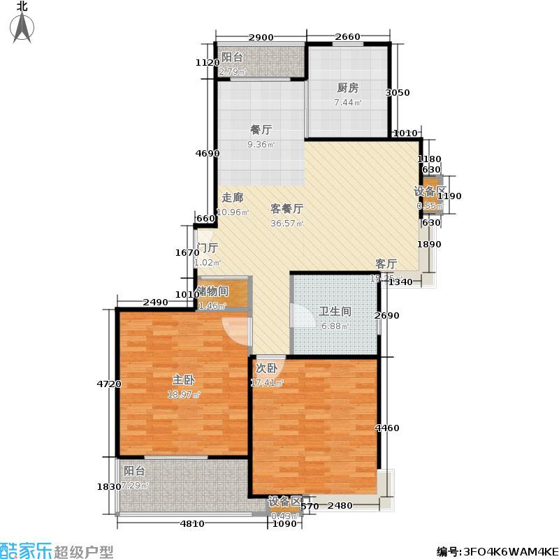 上海源花城100.00㎡二房二厅一卫-100-110平方米-8套户型