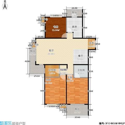 徐家汇景园3室1厅2卫1厨125.00㎡户型图
