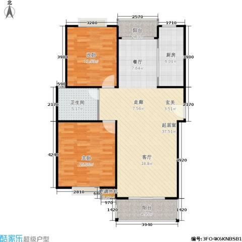 春江锦庐2室0厅1卫1厨112.00㎡户型图