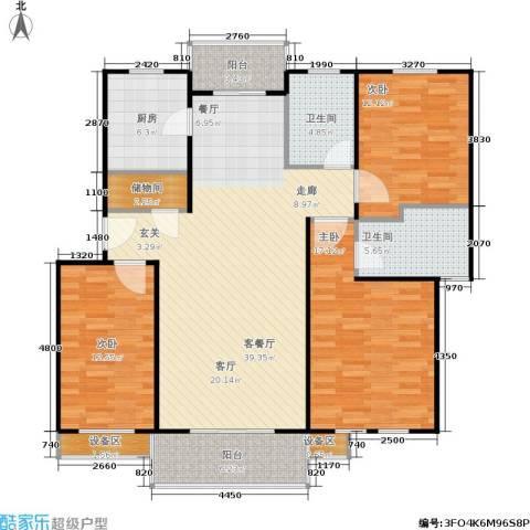 成事高邸3室1厅2卫1厨112.06㎡户型图