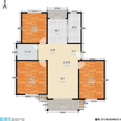 春江锦庐3室0厅1卫1厨134.00㎡户型图