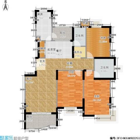 蔚蓝城市花园3室0厅2卫1厨157.00㎡户型图