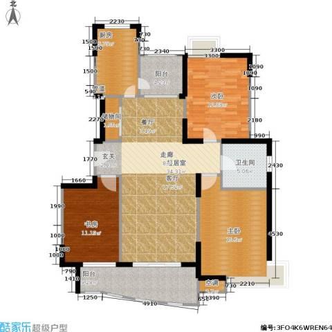 蔚蓝城市花园3室0厅1卫1厨141.00㎡户型图