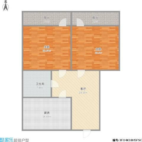 花园小区2室1厅1卫1厨141.00㎡户型图