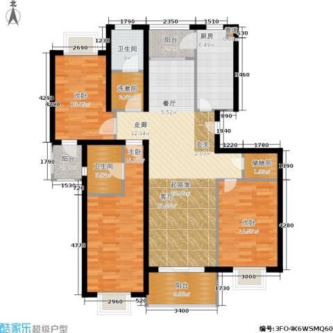 上海阳城3室0厅2卫1厨111.60㎡户型图