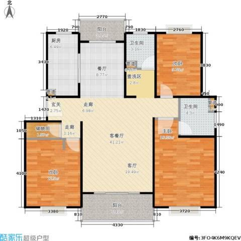 四季宜景苑3室1厅2卫1厨116.00㎡户型图