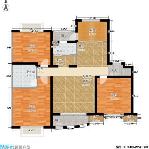 上海阳城3室0厅2卫1厨122.00㎡户型图