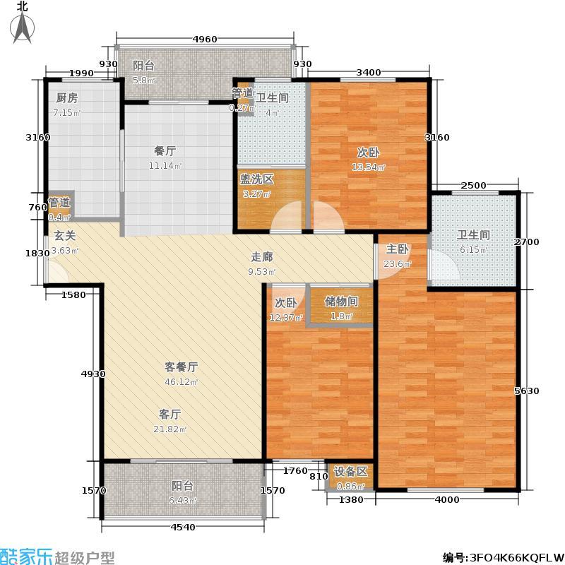 新天地河滨花园142.81-143.89平米3室2厅2卫户型2室2厅2卫
