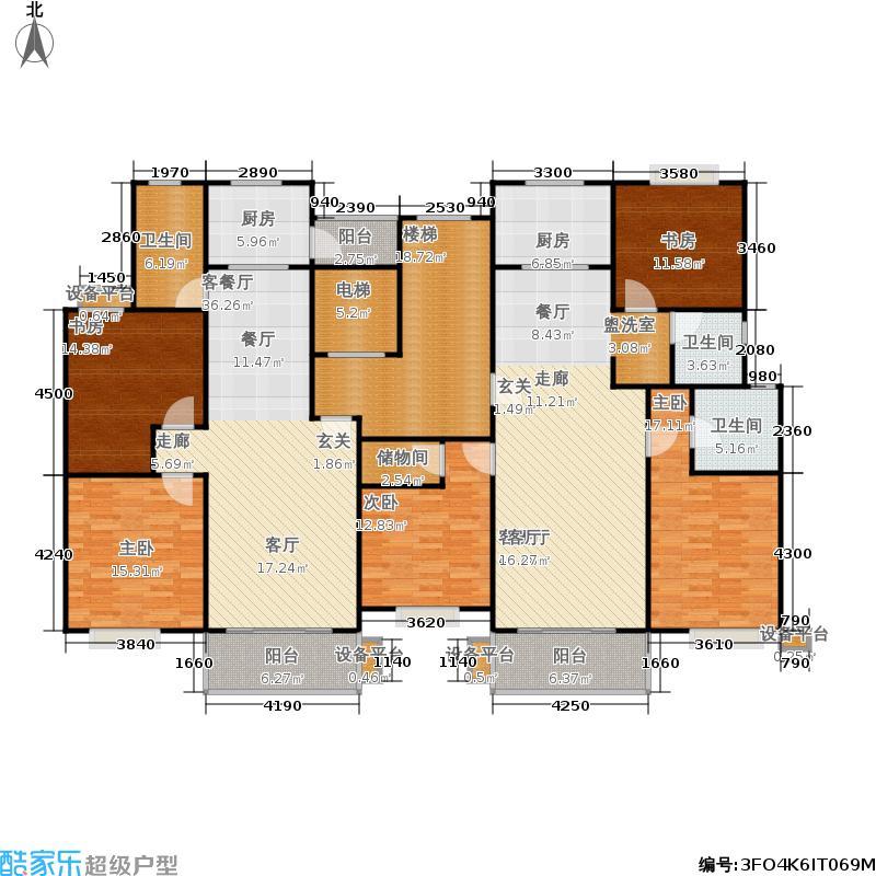 嘉丰佳苑户型5室2厅3卫2厨