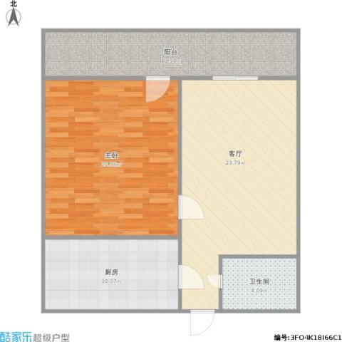 化纤小区1室1厅1卫1厨97.00㎡户型图