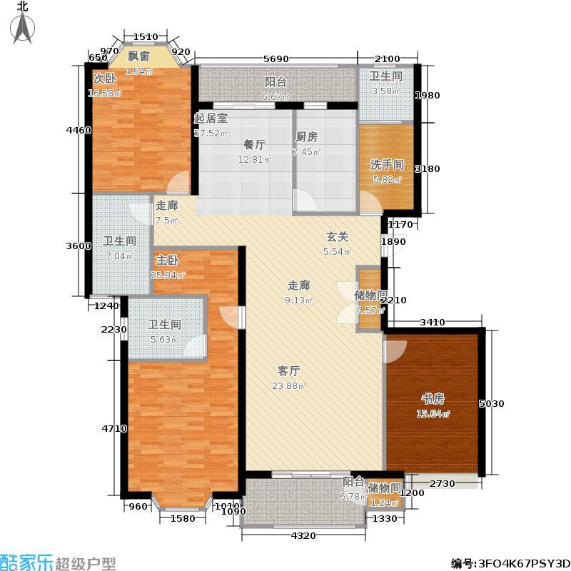 古北玛瑙园176.00㎡房型: 四房; 面积段: 176 -180 平方米; 户型