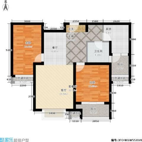 兴平昌苑2室1厅1卫1厨100.00㎡户型图