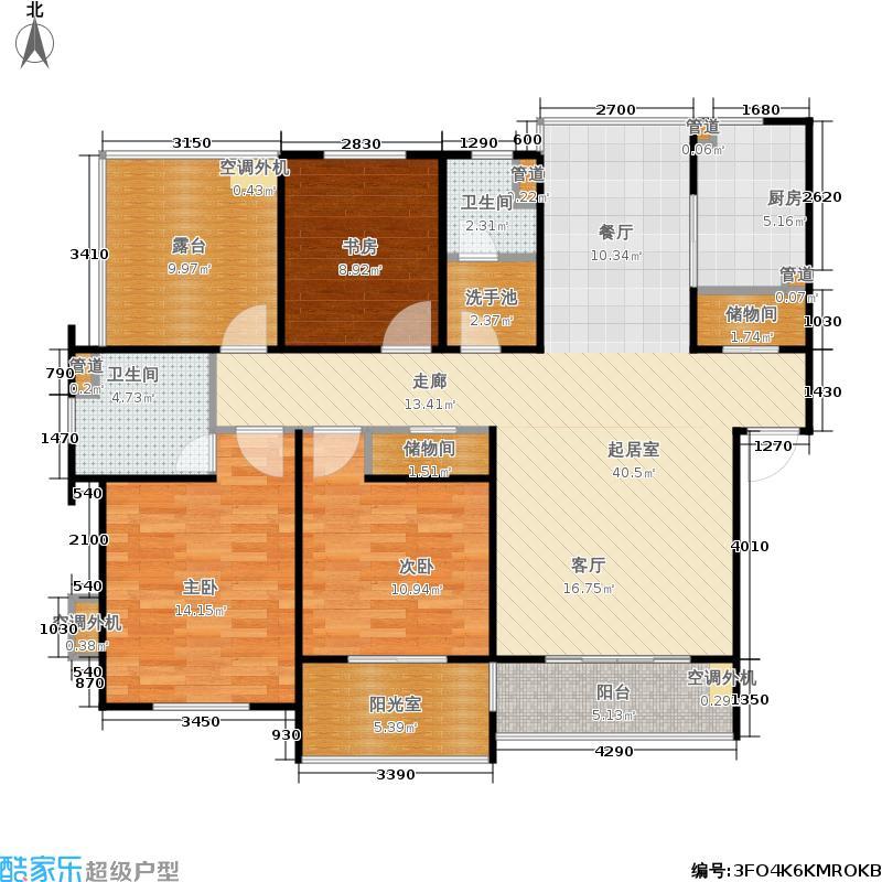 金榜家园124.00㎡房型: 三房; 面积段: 124 -144 平方米; 户型