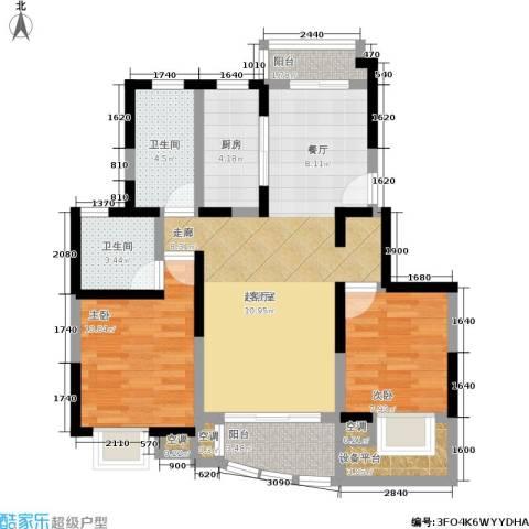 澳丽映象嘉园2室0厅2卫1厨80.00㎡户型图