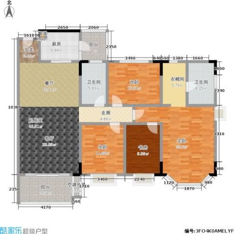 金碧御水山庄4室0厅2卫1厨156.00㎡户型图