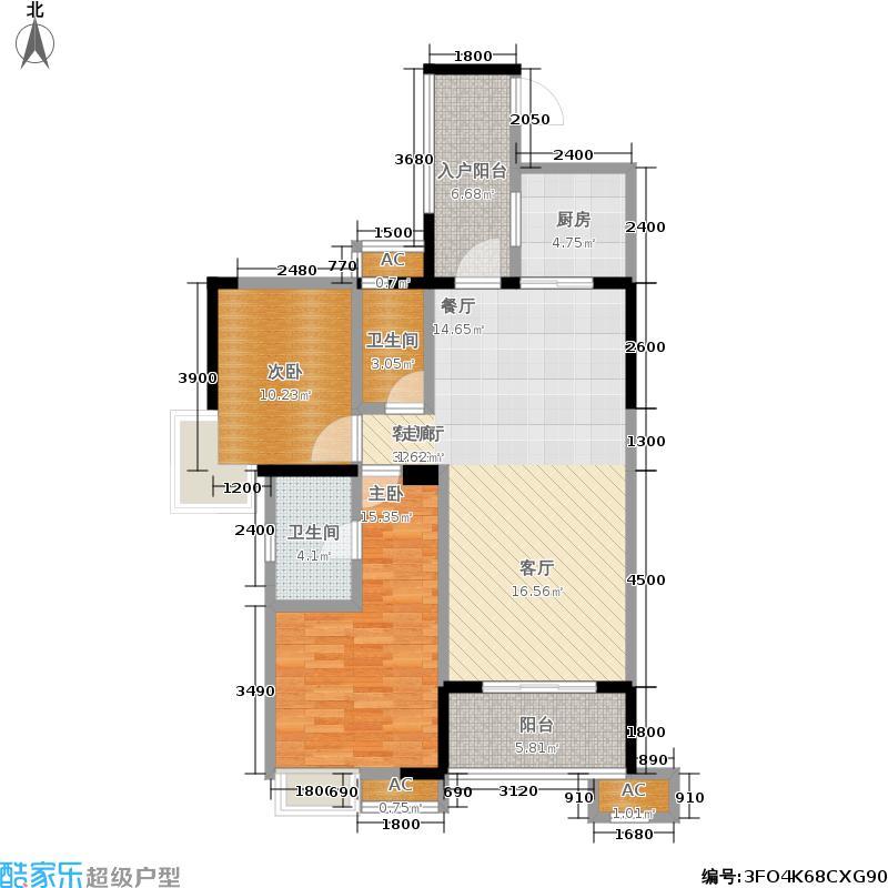 中粮祥云国际生活区悦云府104.23㎡2011年7月销预售2期一批次104.23平米2室2厅2卫户型2室2厅2卫