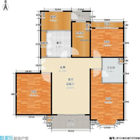 众众家园3室2厅2卫1厨170.00㎡户型图