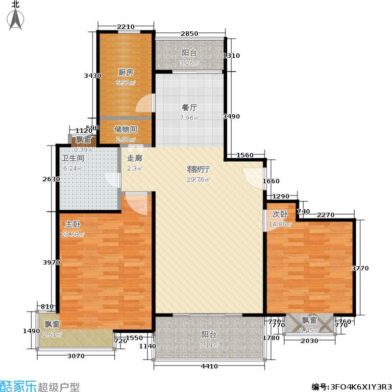 阳光世家2室2厅1卫106平米全南户型