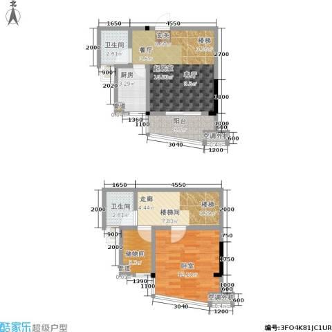 西城龙庭2卫1厨86.00㎡户型图