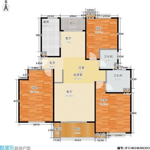 上海源花城3室0厅2卫1厨136.00㎡户型图