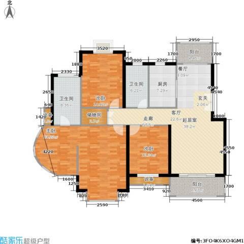 嘉和阳光城3室0厅2卫1厨190.00㎡户型图