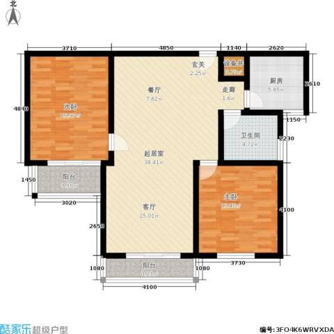 龙柏西郊公寓2室0厅1卫1厨122.00㎡户型图