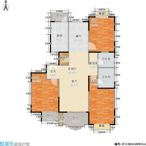 扬子江家园3室1厅2卫1厨140.00㎡户型图