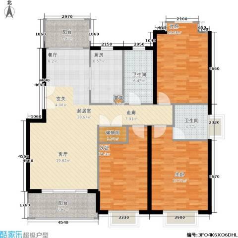 嘉和阳光城3室0厅2卫1厨166.00㎡户型图